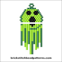 Click to view the Ghostly Ghoul Halloween brick stitch bead pattern charts.