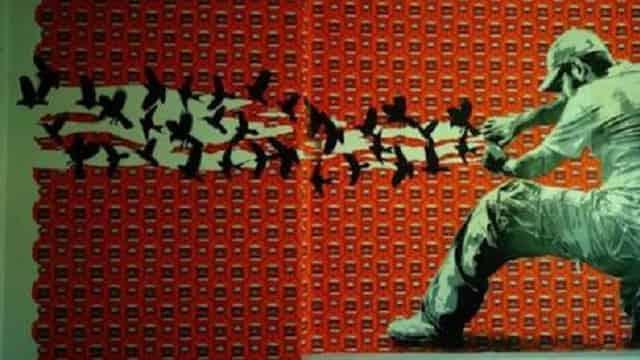 Ilustração para artigo de Boa Ventura de Sousa. Mural do coletivo mexicano Lapiztolarte