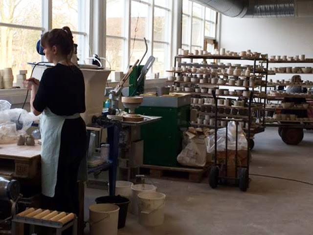 The factory floor in Den Danske Keramikfabrik