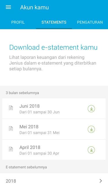 e-statement Jenius