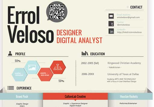 curriculum vitae estilo infografia mexico