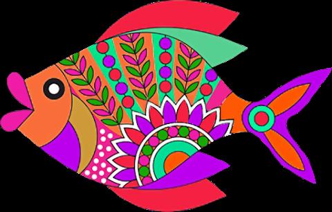 Vector Fish Art PNG 2352