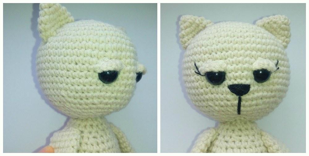 Мастер-класс крючком кошка амигуруми: голова
