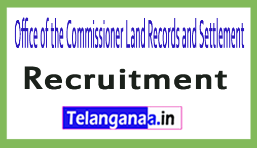 Office of the Commissioner Land Records and Settlement Recruitment