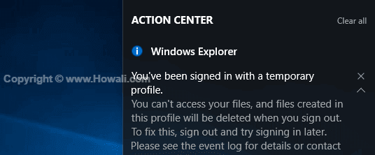 You've been signed in with a temporary profile