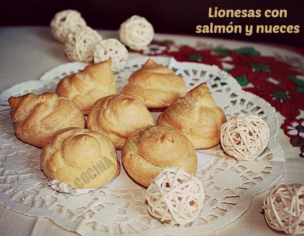 LIONESAS CON SALMÓN Y NUECES