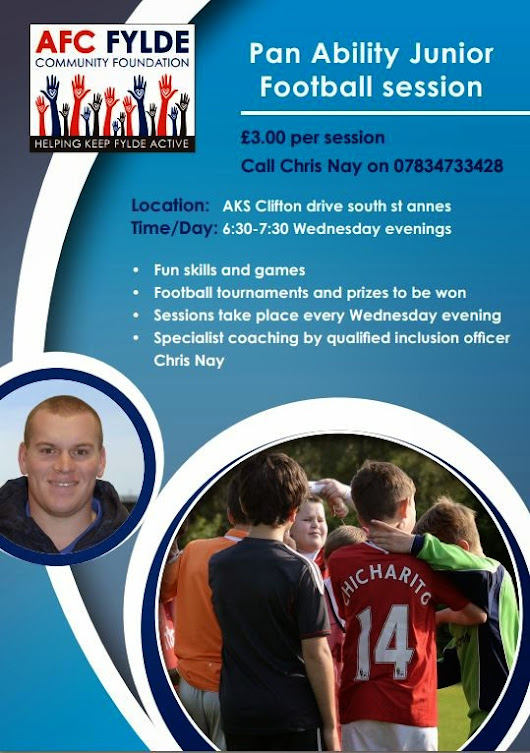 PRESTON and WEETON HIVE: AFC Fylde - Junior Football Sessions