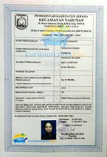 surat izin usaha cv 3 sahabat