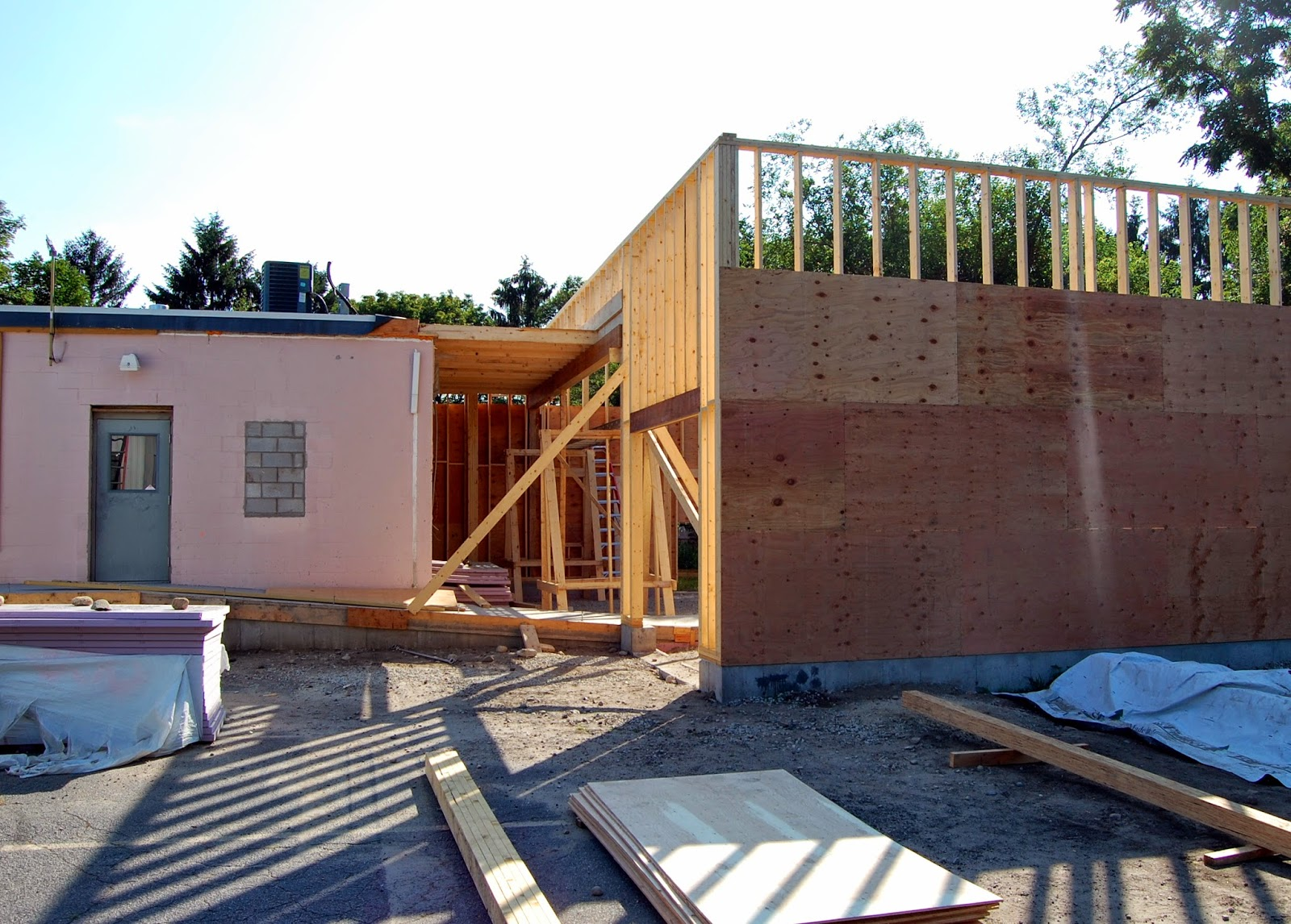 side view of rear entrance - 2