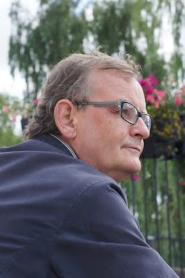 Nigel Fisher who writes Brigg Blog  - pictured near the County Bridge by Ken Harrison