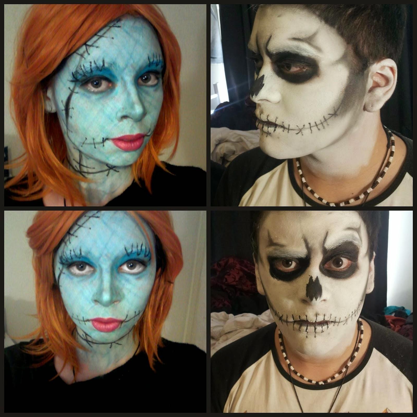 Nightmare Before Christmas Jack And Sally Makeup For Halloween