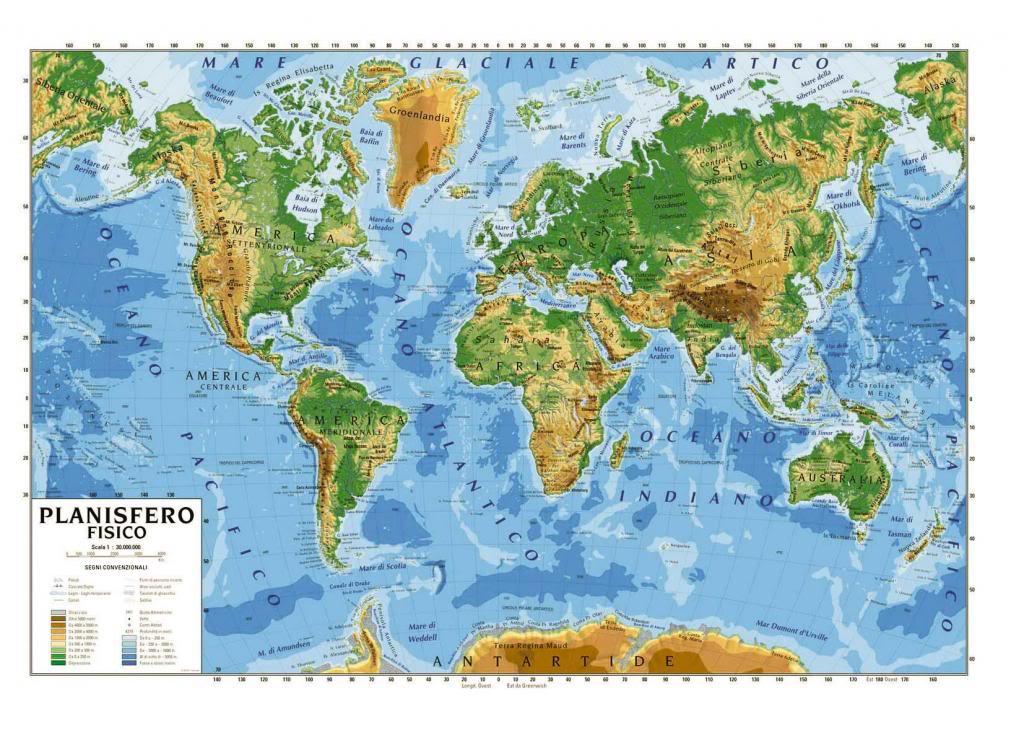 cartina geografica del mondo
