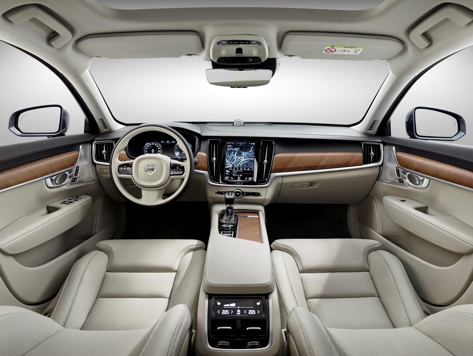 170101 Interior Blond Volvo S90 Το νέο Volvo S90 έρχεται και βάζει φωτιά στον ανταγωνισμό premium sedan, Volvo, Volvo Cars, Volvo S90