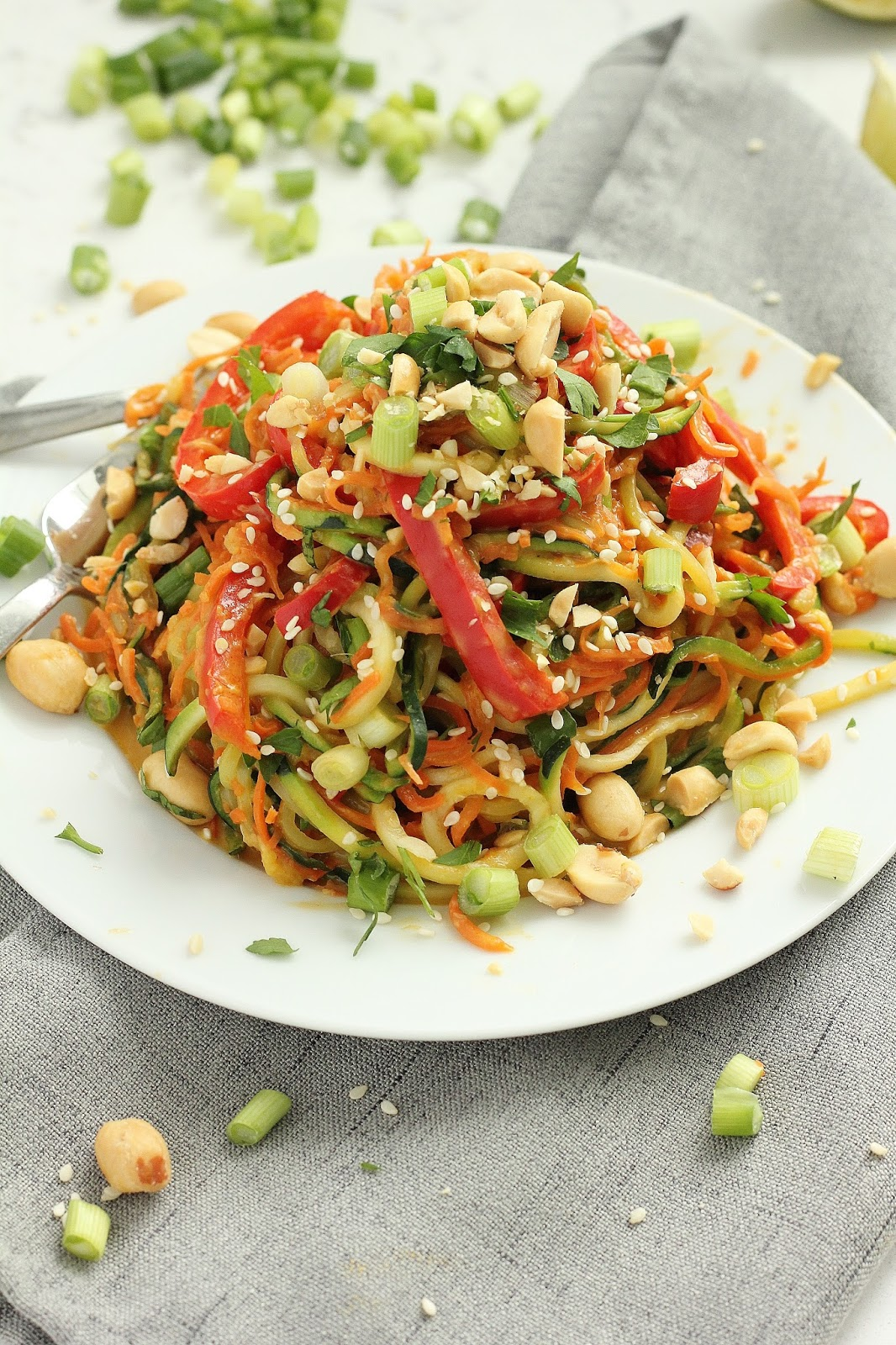 Thai Peanut Veggie Noodles