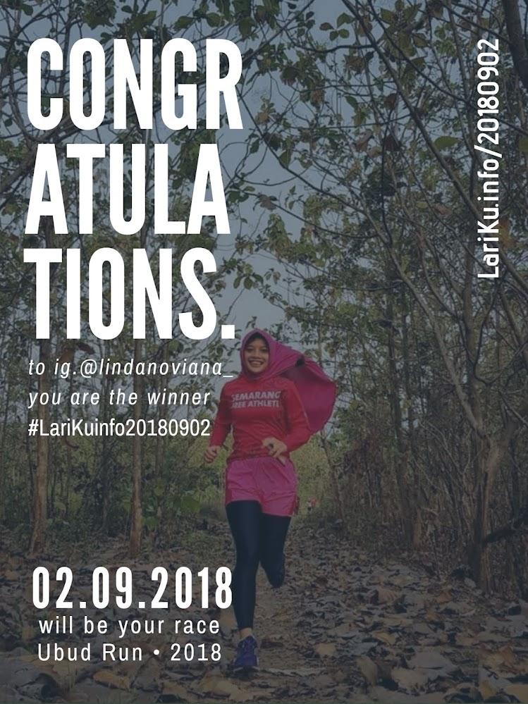 #LariKuinfoBerbagiTiket #UbudRun2018 • 2018