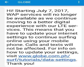 "How to Setup Globe new Default APN ""internet.globe.com.ph"""