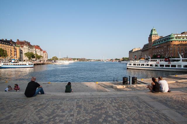Zona del porto-Nybrohamnen-Stoccolma