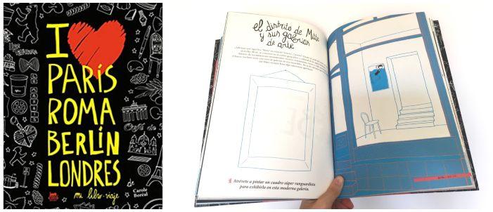 cuentos libros lecturas recomendadas verano 2018 libro viaje i love parís, roma, berlín londres