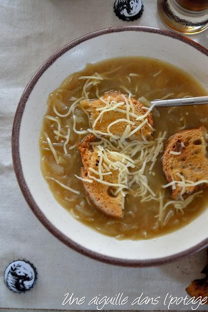 Soupe  aux oignons de Roscoff et Coreff ambrée