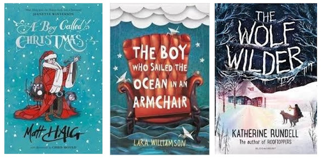 A Boy Called Christmas, The Boy who Sailed the Ocean in an Armchair and The Wolf Wilder