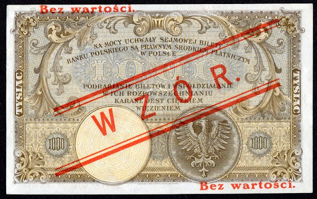 POLAND currency 1000 ZLOTYCH, 1919 issue