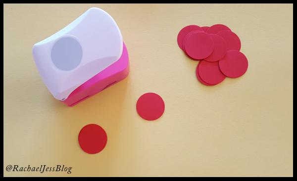 Circle hole punch makes perfect cheeks