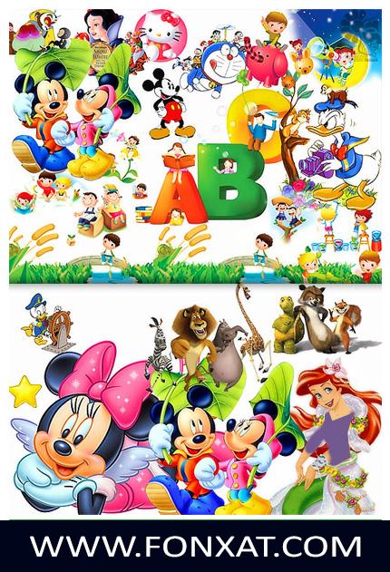 ملف مفتوح المصدر لشخصيات كرتون مشهورة ميكى ماوس وشخصيات