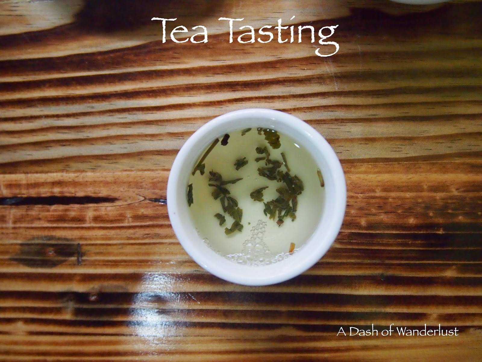 loose leaf green tea in a cup