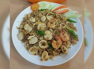 resep dan cara membuat nasi goreng seaood ala china