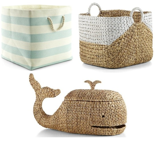 Coastal Style Storage Bins and Baskets