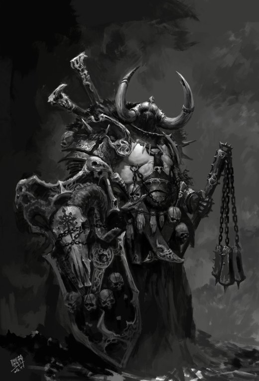 NI Yipeng artstation arte ilustrações fantasia terror sombrio