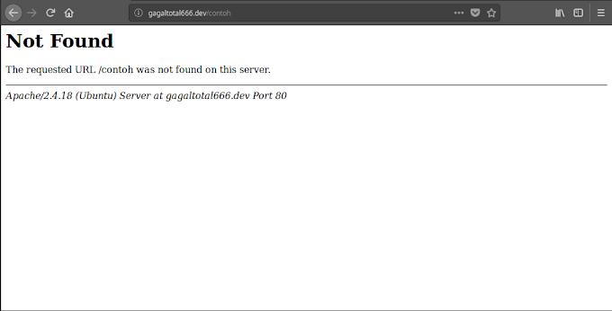 """Mengatasi """"URL Was Not Found"""" di Laravel dengan Webserver Apache di GNU/Linux"""