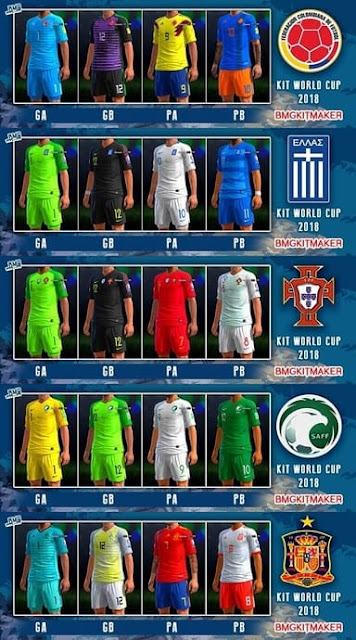 PES 2013 New Full Kitpack World Cup 2018