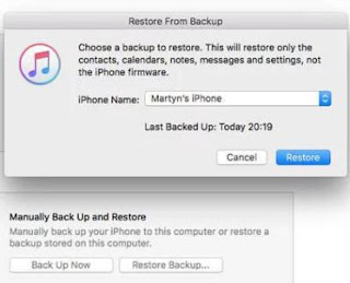 How to Restore iPhone or iPad from an iTunes  backup
