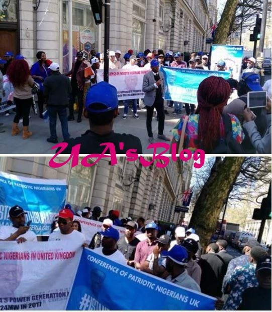 Buhari's Supporters Hold Massive Rally In UK, Endorse Him For Second Term (Photos)