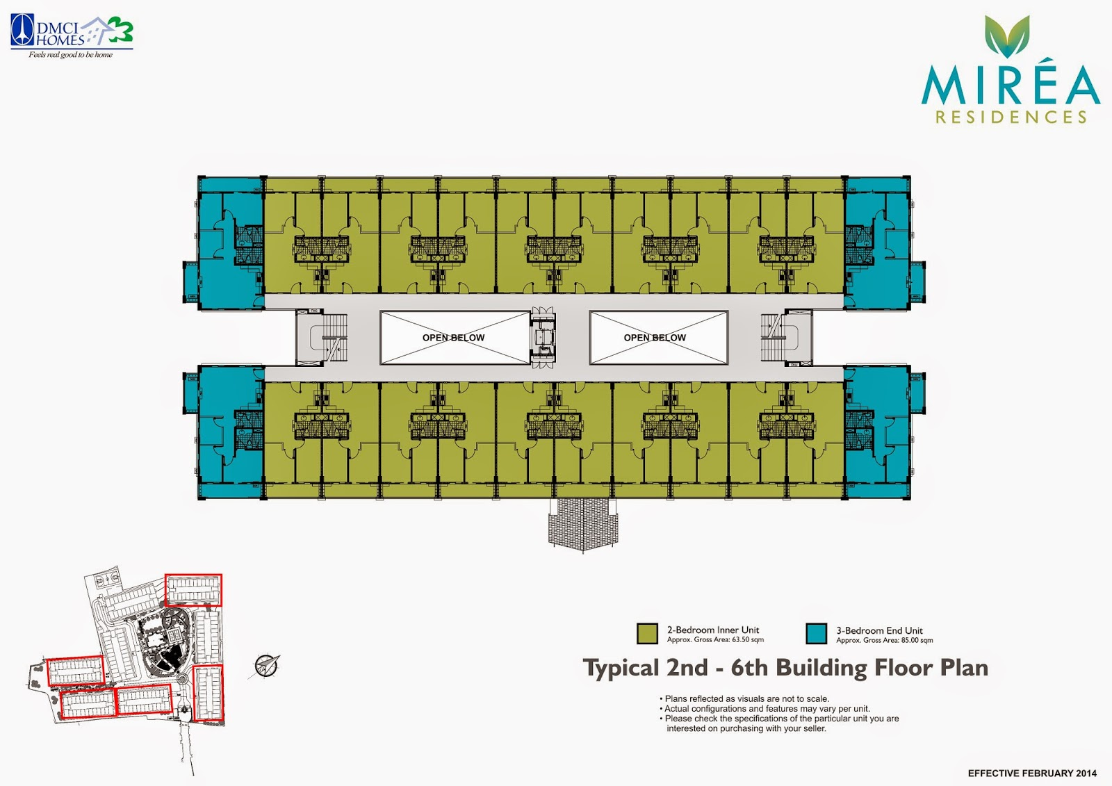 Mirea Residences 2nd - 6th Floor Plan