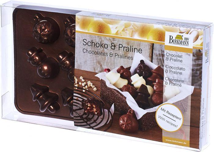 Pralinen- und Schokoladenförmchen Weihnachten