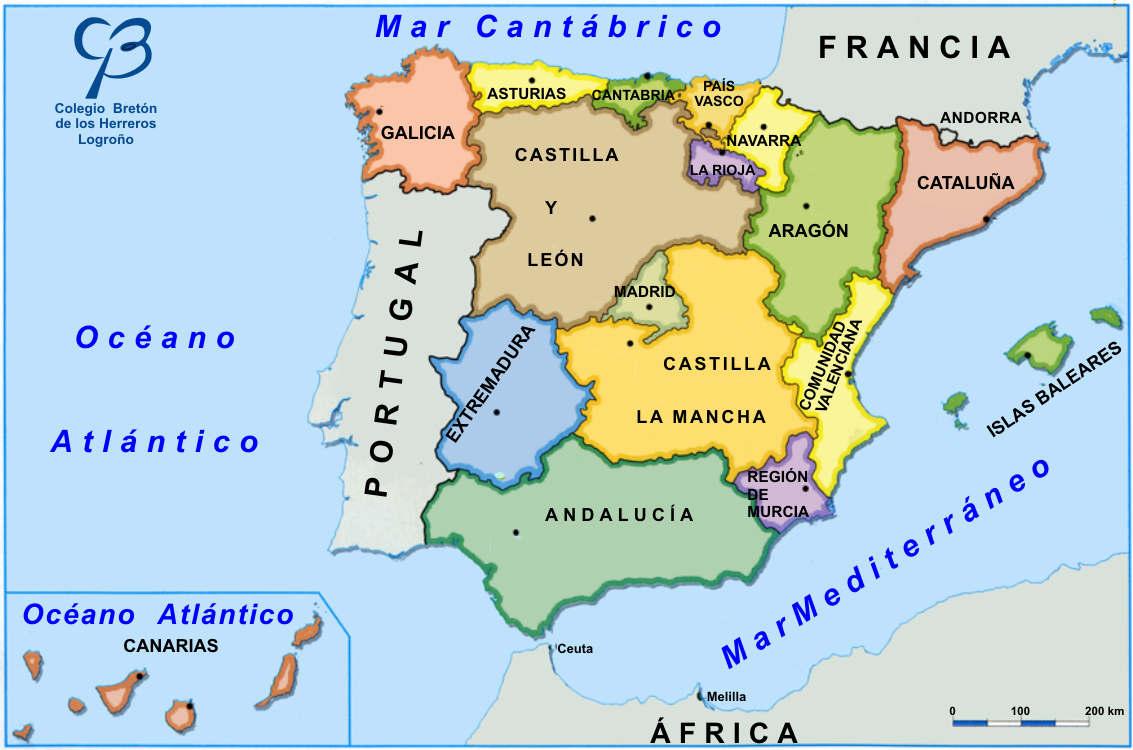 Www Mapa De Espana.Mapa De Espana Fisico Con Provincias O Rios Para Imprimir