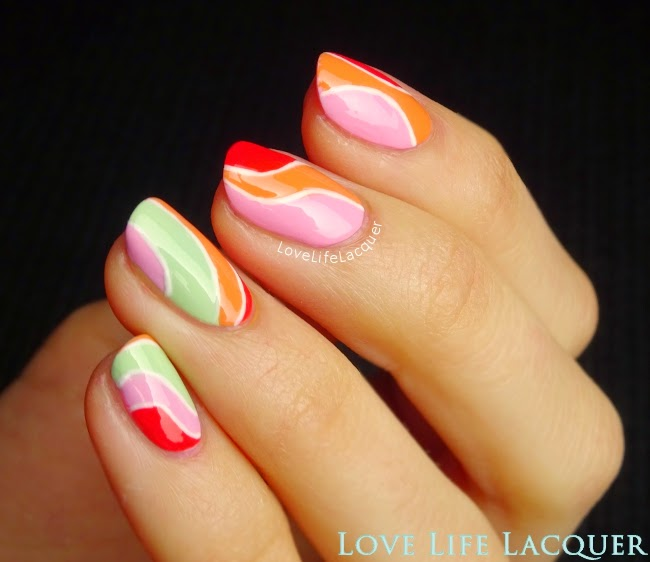OPI Hawaii nail art by @lovelifelacquer