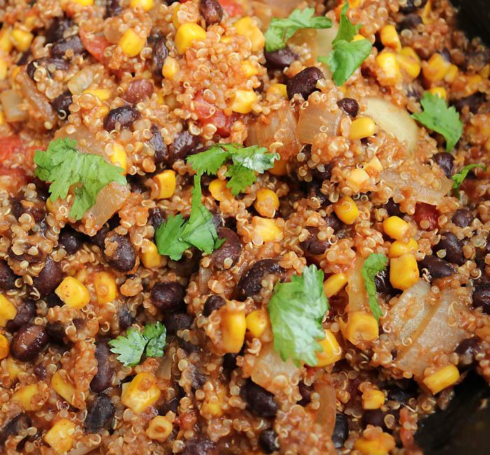 Vegan Crock Pot Quinoa Black Bean Tacos