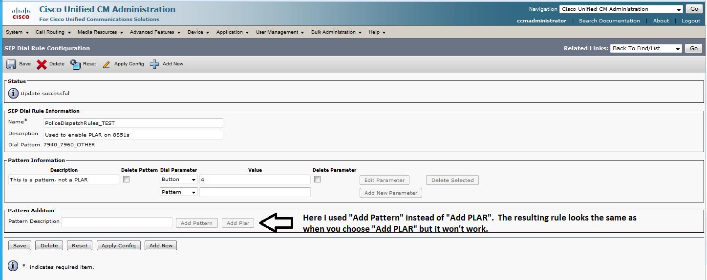 Web Maxtor: CUCM using SIP phones as PLAR or ring down lines