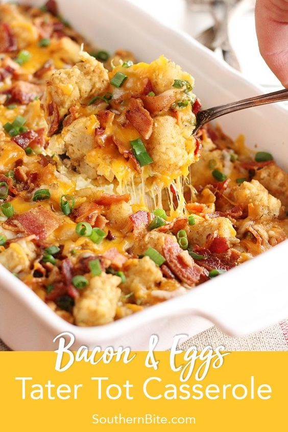 Bacon & Eggs Tater Tot Casserole