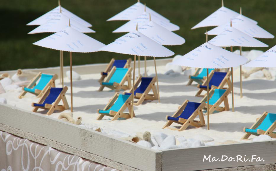 Sedie A Sdraio In Miniatura.Ma Do Ri Fa Nozze A Tema Spiaggia
