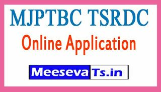 MJPTBC TSRDC 2019 Online Application
