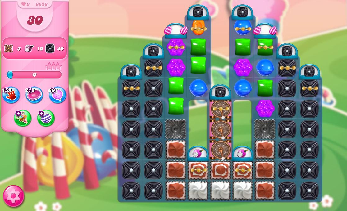 Candy Crush Saga level 6828