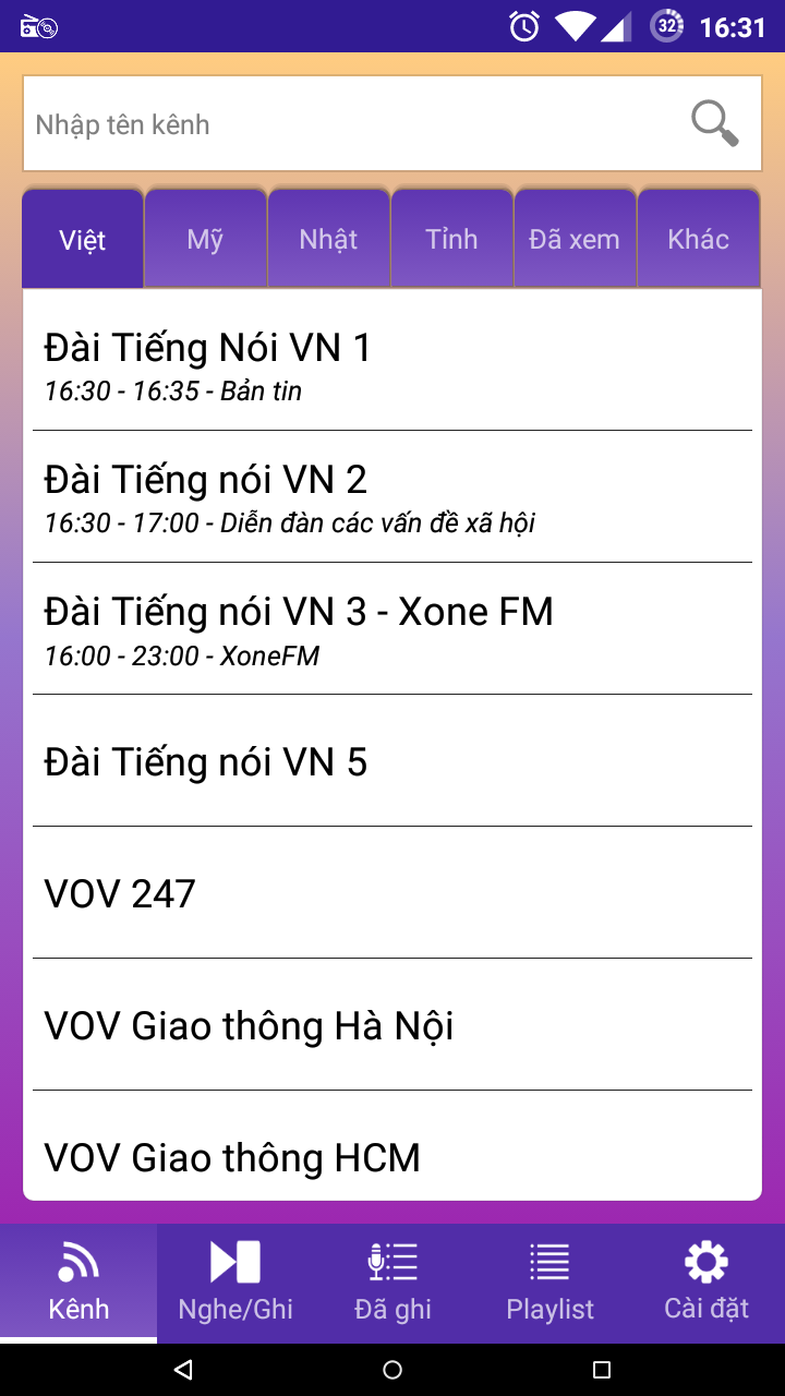 Luyện nghe tiếng anh, tiếng Nhật bằng ứng dụng nghe radio Radio94rec-nghe-radio-viet-nam