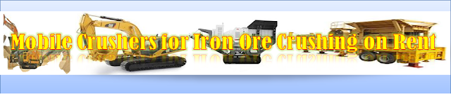 Iron Ore Crushers and Screening on Rent