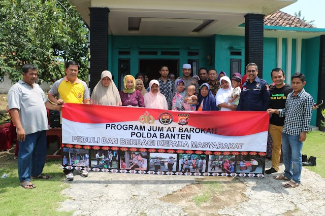 Jum'at Barokah Polda Banten, Tingkatkan Silahturahmi Dengan masyarakat