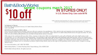 Bath And Body Works coupons march
