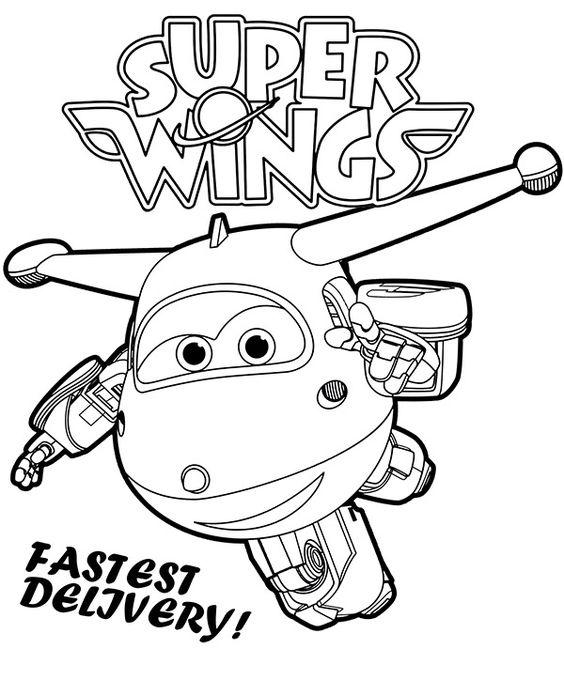 Tranh cho bé tô màu đội bay siêu đẳng